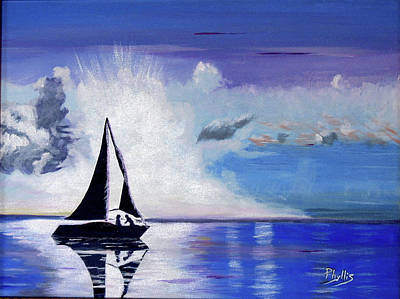Painting - Sunset Sail by Phyllis Kaltenbach