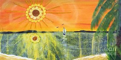 Caribbean Abstract Painting - Dream Sailing by Sharon Eng