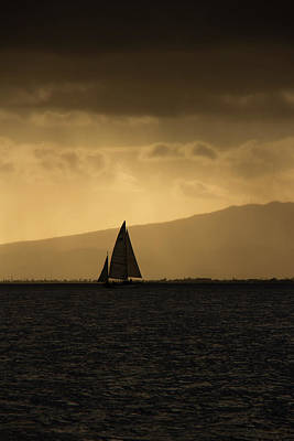 Photograph - Sunset Sail Vertical by Debby Richards