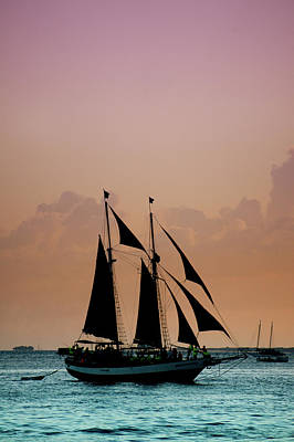 Mallory Square Key West Wall Art - Photograph - Sunset Sailing At Key West by Art Spectrum