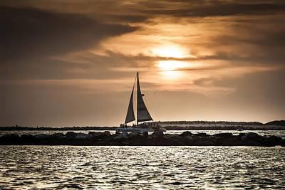 Photograph - Sunset Sailing  by Debra Forand