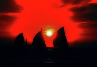 Photograph - Sunset Sailing by Frank Vargo