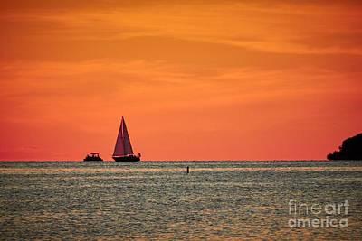 Photograph - Sunset Sailing by Graesen Arnoff