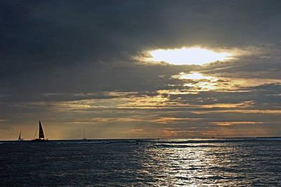 Hawaiin Photograph - Sunset Sailing In Hawaii by Kami McKeon