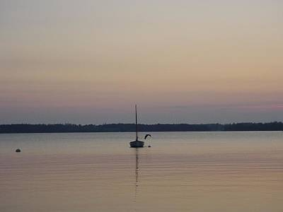 Cushing Photograph - Sunset Sailing by Kelly Mezzapelle
