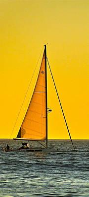 Ventura California Photograph - Sunset Sailing by Liz Vernand