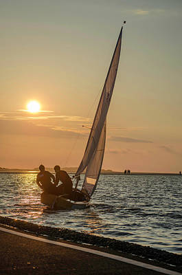 Photograph - Sunset Sailing  by Spikey Mouse Photography