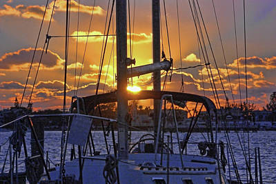 Photograph - Sunset Sails by HH Photography of Florida
