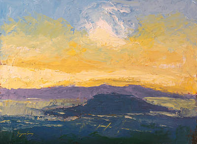 Painting - Sunset San Francisco Bay by Suzanne Cerny