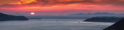 Photograph - Sunset Santorini  by Emmanuel Panagiotakis