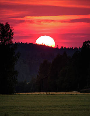Photograph - Sunset Scenery by Teemu Tretjakov