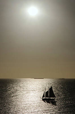 Photograph - Sunset Schooner by Arthur Dodd