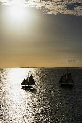 Photograph - Sunset Schooners by Arthur Dodd