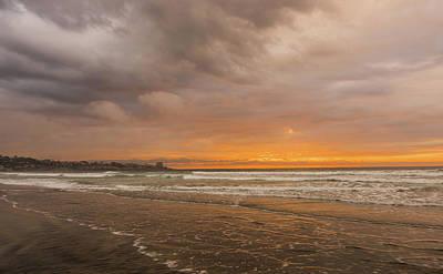 Photograph - Sunset Scripps Beach La Jolla Ca by Bruce Pritchett