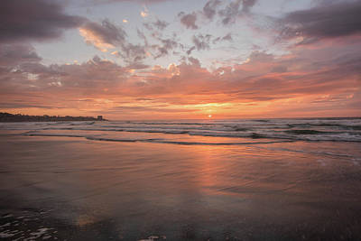Sunset Scripps Beach Pier Img 5 La Jolla San Diego Ca Art Print by Bruce Pritchett