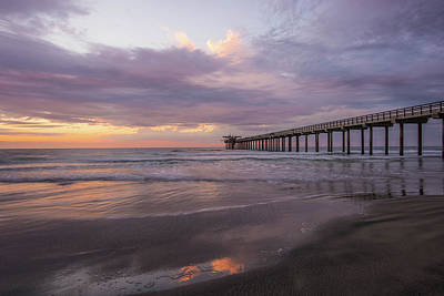 Sunset  Scripps Beach Pier La Jolla Ca Img 1 Art Print by Bruce Pritchett