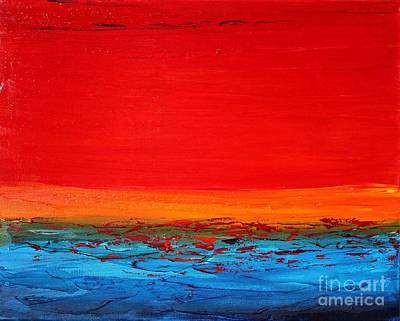 Painting - Sunset Sea 1 by Preethi Mathialagan