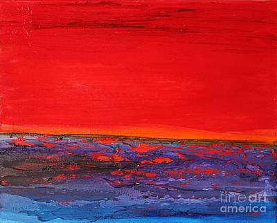 Painting - Sunset Sea 2 by Preethi Mathialagan