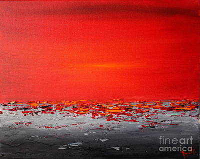 Painting - Sunset Sea 4 by Preethi Mathialagan