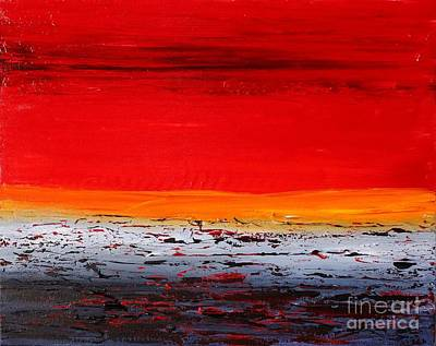 Painting - Sunset Sea 6 by Preethi Mathialagan