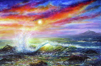 Painting - Sunset Sea by Ann Marie Bone