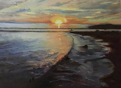 Painting - Sunset Sea by Joyce Snyder
