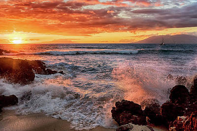 Photograph - Sunset Sea by Susan Rissi Tregoning