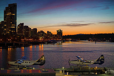 Photograph - Sunset Seaplanes by Ross G Strachan