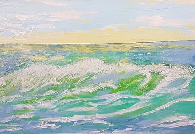 Painting - Sunset Seascape 6 by Judi Goodwin