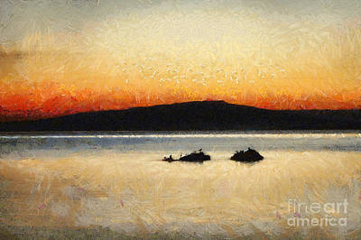 Painting - Sunset Seascape by Dimitar Hristov
