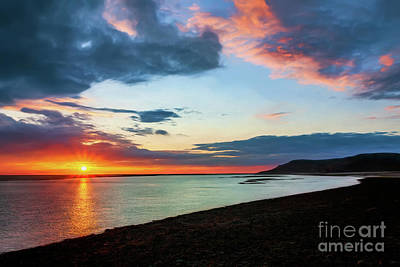 Photograph - Sunset Seascape Wales by Adrian Evans