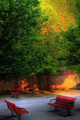 Sunset Seats Art Print