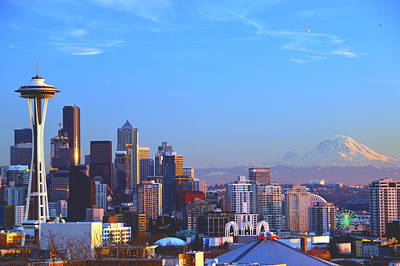 Photograph - Sunset Seattle by Brian O'Kelly