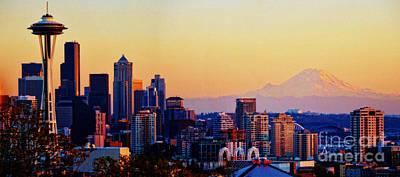 Photograph - Sunset Seattle by Frank Larkin