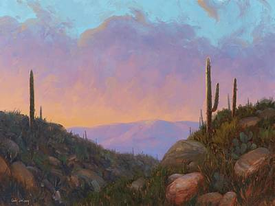 Paintings - Sunset Sentinels 2 by Cody DeLong