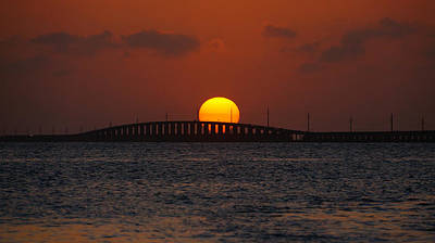 Sunset Seven Mile Bridge Art Print