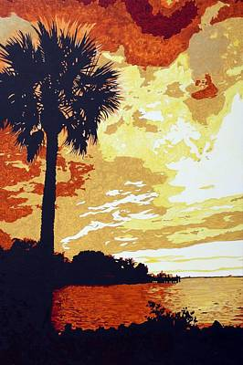 Sunset  Print by Sheri Buchheit