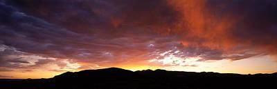 Sunset Sierra Nevada Mountains Ca Art Print