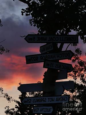 Photograph - Sunset Signage by Brian Boyle