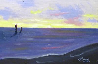 Painting - Sunset Silhouette 5 by JJ Long