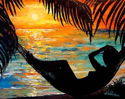 Sunset Silhouette Art Print by Alan Lakin