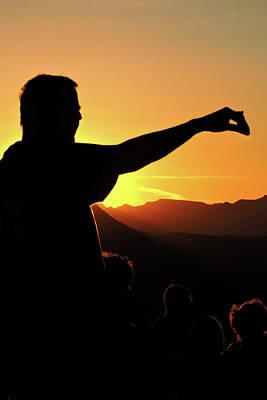 Photograph - Sunset Silhouette by Grace Dillon