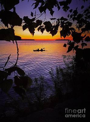 Photograph - Sunset Silhouette by Graesen Arnoff