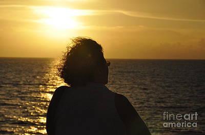 Photograph - Sunset Silhouette by John Black