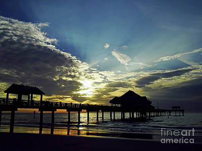 Photograph - Sunset Silhouette Pier 60 by D Hackett