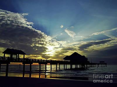 Photograph - Sunset Silhouette Pier 60 by D Hackett