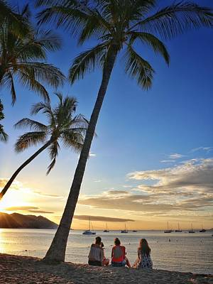 Photograph - Sunset Silhouettes At Horseshoe Bay On Magnetic Island by Keiran Lusk
