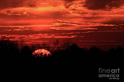 Photograph - Sunset Silhouettes Forest Fire Art by Reid Callaway