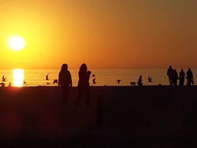 Pasta Al Dente - Sunset - Silhouettes on the beach by Holly Eads