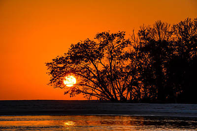 Photograph - Sunset Sillouette by Robert McKay Jones